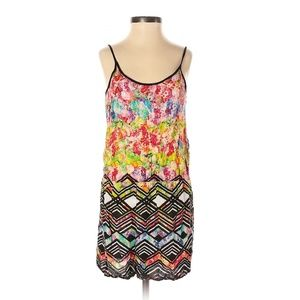 Mink Pink Colorful Abstract Print Romper